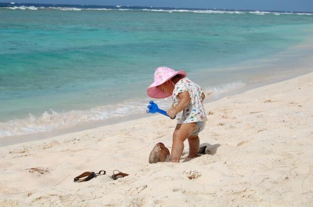 赤ちゃんにとっての海水浴のメリット